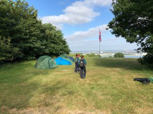 Scouts camping at Gilwell Park